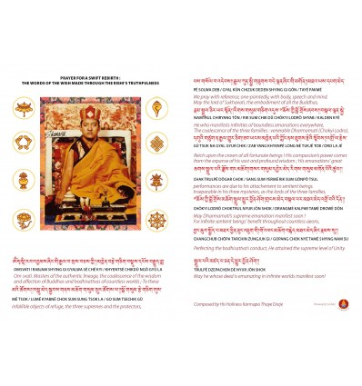 Swift Return prayer for HH Shamar Rinpoche